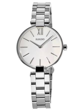 Rado Coupole M Quartz Silver Dial Steel Women's Watch R22850013