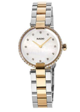 Rado Coupole  Two Tone Mother of Pearl Diamond Dial Women's Watch R22859923