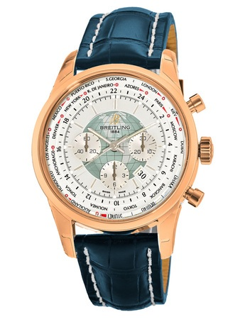 Breitling Transocean Chronograph Unitime  Men's Watch RB0510U0/A733-747P