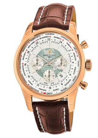 Breitling Transocean Chronograph Unitime  Men's Watch RB0510U0/A733-757P