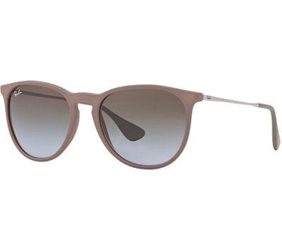 Ray-Ban Erika  Classic Brown Gradient Rubber Unisex Sunglasses RB4171 6000/68 54