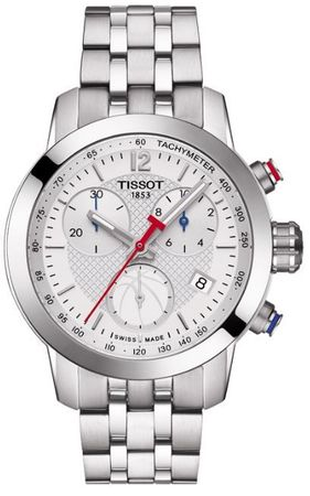 Tissot PRC 200  Chronograph Silver Dial Women's Watch T055.217.11.017.00