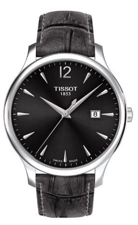 Tissot Tradition  Grey Dial Grey Leather Women's Watch T063.610.16.087.00