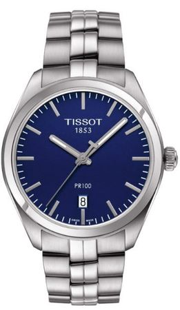 Tissot PR100  Blue Dial Stainless Steel Men's Watch T101.410.11.041.00