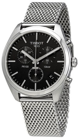 Tissot PR100  Black Chronograph Dial Stainless Steel Men's Watch T101.417.11.051.01