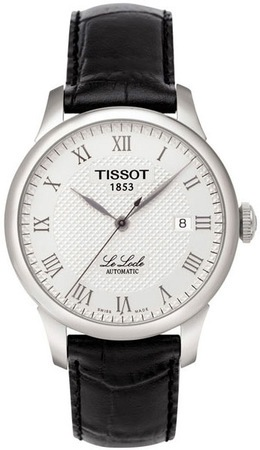 Tissot Le Locle  Silver Dial Black Leather Men's Watch T41.1.423.33