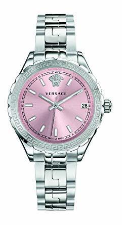 Versace Hellenyium  Pink Dial Steel Women's Watch V12010015