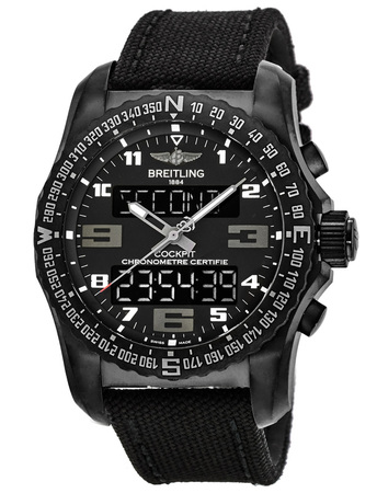 Breitling Professional Cockpit B50 Black Titanium Anthracite Military Strap Men's Watch VB501022/BD41-100W