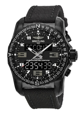 Breitling Professional Cockpit B50 Black Titanium Black Military Strap Men's Watch VB501022/BD41-104W
