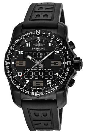 Breitling Professional Cockpit B50 Night Mission Titanium Case Rubber Strap Men's Watch VB501022/BD41-155S