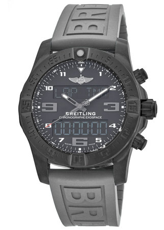 Breitling Exospace B55 Connected Titanium Volcano Black Dial Rubber Strap Men's Watch VB5510H1/BE45-245S