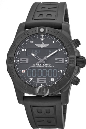 Breitling Professional Exospace B55 Black Titanium Anthracite Rubber Strap Pairing Capability Men's Watch VB5510H1/BE45-263S