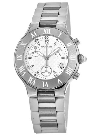 Cartier Must 21 Chronoscaph   Men's Watch W10184U2-PO
