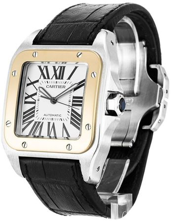 Cartier Santos 100 Automatic  Men's Watch W20077X7