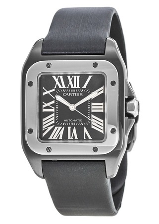 Cartier Santos 100 Automatic Carbon Unisex Watch W2020008