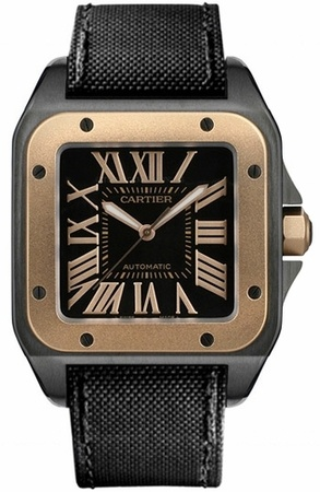 Cartier W2020009 Santos 100 Automatic Men's Watch - WatchMaxx.com