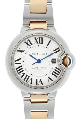 Cartier Ballon Bleu 33mm 18k Yellow Gold & Steel Automatic Women's Watch W2BB0002