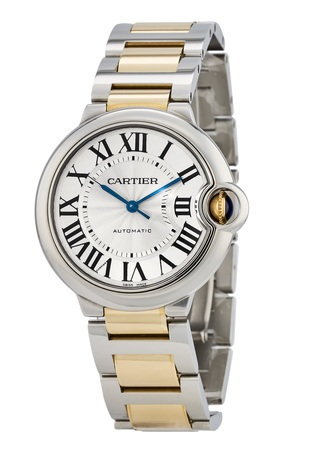 Cartier Ballon Bleu 36mm Automatic 18K Yellow Gold & Steel Unisex Watch W2BB0012