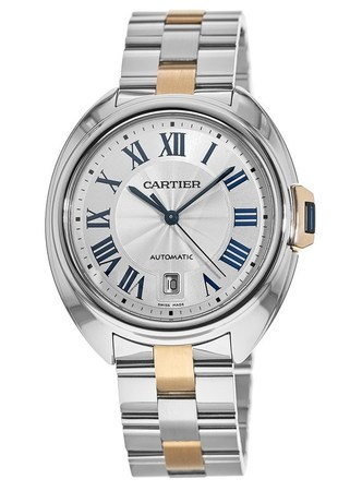 Cartier Cle de Cartier 40mm Rose Gold & Steel Automatic Men's Watch W2CL0002