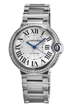 Cartier Ballon Bleu 36mm Diamond Dial Women's Watch W4BB0017