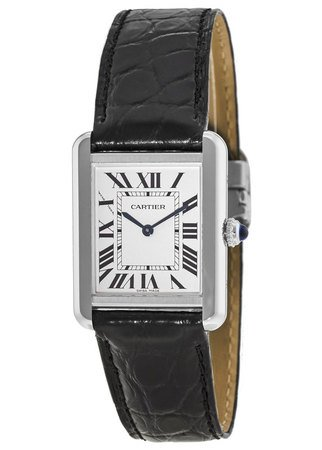 Cartier Tank Solo 34.8 mm x 27.4 mm Leather Strap Unisex Watch W5200003