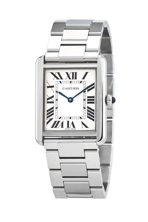 Cartier Tank Solo 34.8 mm x 27.4 mm Steel Unisex Watch W5200014