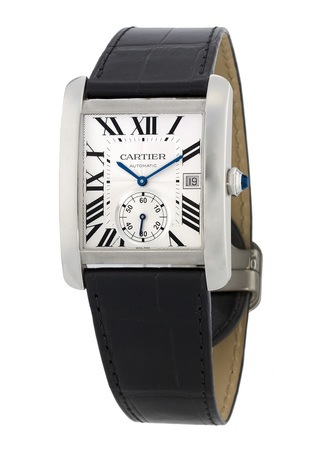 Cartier Tank MC Leather Strap Men's Watch W5330003