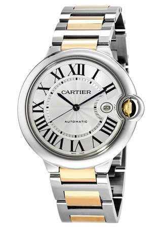 Cartier Ballon Bleu 42mm Automatic Yellow Gold & Steel Men's Watch W69009Z3