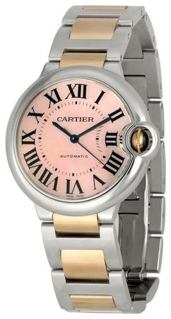 Cartier Ballon Bleu 36mm Rose Gold & Steel Women's Watch W6920033
