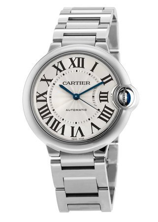 Cartier Ballon Bleu 36mm Midsize Steel Women's Watch W6920046