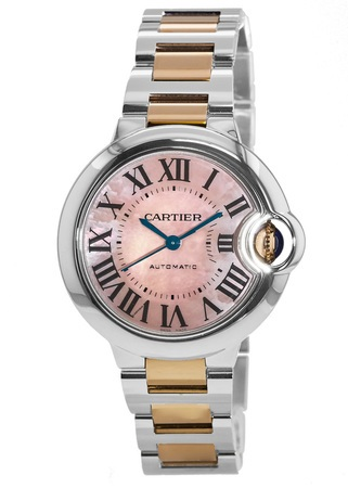 Cartier Ballon Bleu 33mm Rose Gold and Stainless Steel Women's Watch W6920098