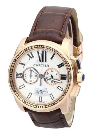 Cartier Calibre de Cartier Chronograph  Men's Watch W7100044