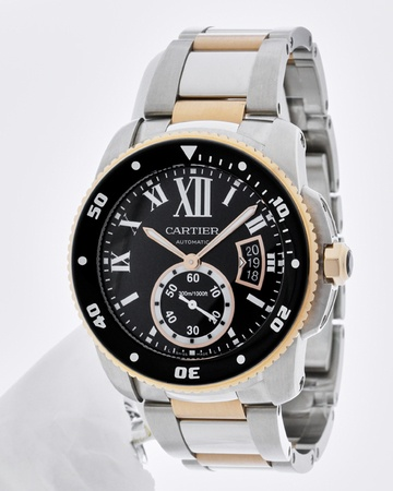 Cartier Calibre de Cartier Diver 18kt Rose Gold & Steel Men's Watch W7100054
