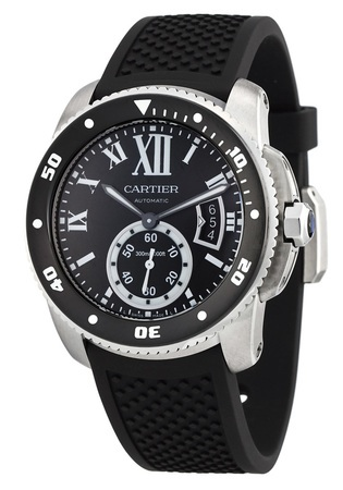 Cartier Calibre de Cartier Diver Rubber Strap Men's Watch W7100056