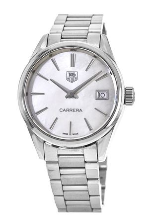 Tag Heuer Carrera  Mother of Pearl Stainless Steel Women's Watch WAR1311.BA0778-PO