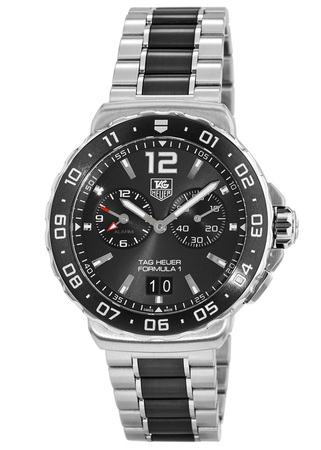 Tag Heuer Formula 1 Alarm Anthracite Chronograph Dial Ceramic Bezel Men's Watch WAU111C.BA0869