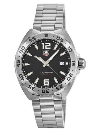Tag Heuer Formula 1 Quartz Black Dial Silver Bezel Men's Watch WAZ1112.BA0875