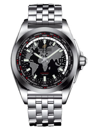 Breitling Galactic Unitime Sleek T Men's Watch WB3510U4/BD94-375A
