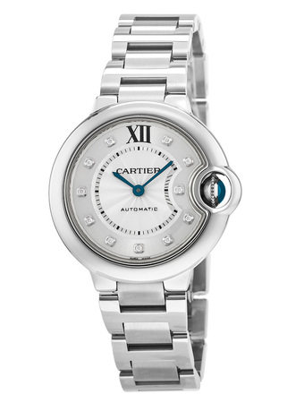 Cartier Ballon Bleu  Automatic Diamond Dial Steel Women's Watch WE902074