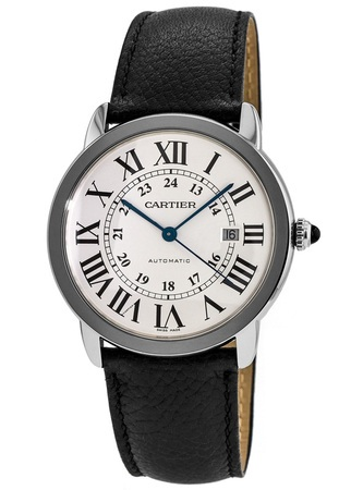 Cartier Ronde Solo Automatic 41mm Leather Strap Men's Watch WSRN0022