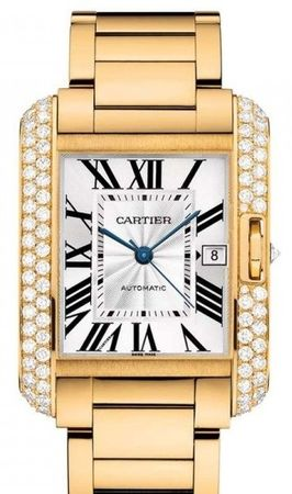 Cartier Tank Anglaise  Men's Watch WT100007