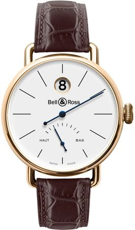 Bell & Ross Vintage  Limited Edition Men's Watch WW1 Heure Sautante Pink Gold