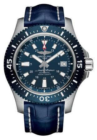 Breitling Superocean 44 Mariner Blue Dial / Blue Alligator Leather Strap Men's Watch Y1739316/C959-732P