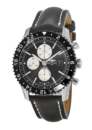 Breitling Chronoliner  Ceramic Pilots Chronograph GMT Leather Men's Watch Y2431012/BE10-441X