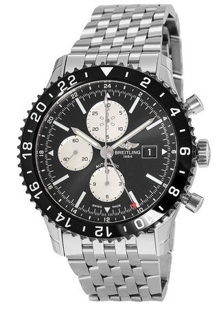 Breitling Chronoliner  Ceramic Pilots Chronograph GMT Navitimer Band Men's Watch Y2431012/BE10-443A