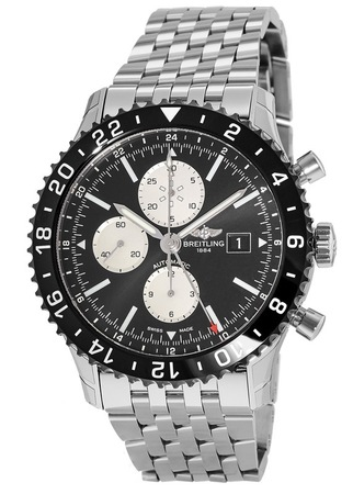 Breitling Chronoliner  Ceramic Pilots Chronograph GMT Navitimer Band Men's Watch Y2431012/BE10-453A