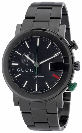 Gucci G Chrono  Black PVD Guilloche Dial Men's Watch YA101331