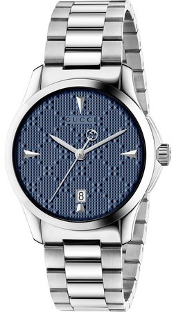 Gucci G-Timeless Diamante Blue Dial Stainless Steel Unisex Watch YA1264025