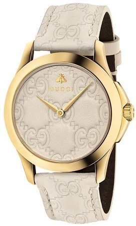 acba3ca5cce Gucci G-Timeless White Dial White Leather Strap Men s Watch YA1264033
