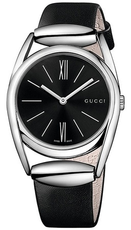Gucci Horsebit  Black Dial Black Leather Women's Watch YA139401